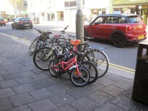 Not enough bike parking!