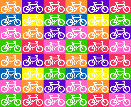 Multicolour bikes